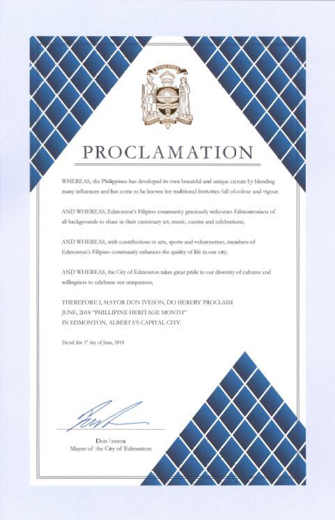 Edmonton Proclamation